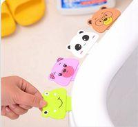 Plastic animal bathroom accessories - New Creative home furnishing Cartoon animal modeling portable sanitary toilet seat handle cover lifter Bathroom Accessories