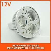 Wholesale MR16 V W High power led spotlight Bulb Lamp Warm white cold white
