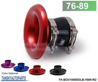 TK-BOV1009DDLB-7689 air exhaust hose - TANSKY ALUMINUM RED Inlet quot MM AIR INTAKE VELOCITY STACK TURBO HORN ADAPTER SILICONE HOSE CLAMP TK BOV1009DDLB default is red