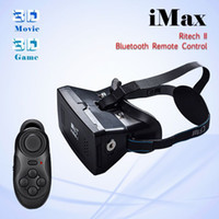 Wholesale RITECH II Head Mount Plastic VR Virtual Reality D Glasses With Magnet Google Cardboard for inch Bluetooth controller