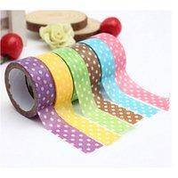 Wholesale 1Roll New Japanese mm Wide Washi Tape Dot Print DIY Sticker Decorative Craft Random Color