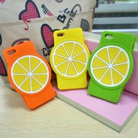 Cheap For Chips Case for iPhone 4 4S Ananas Lemon Banana Strawberry Fruits Silicone Cool Back Cover free shipping DHL