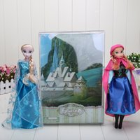 Wholesale 1set hot sell set in box frozen girls frozen anna frozen elsa retail