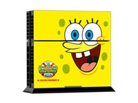 Cheap POP Spongebob Squarepants PS4 Vinyl Decals PS4 Skin Sticker 1 Console Skin+2 Controller Stickers