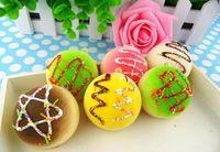 kawaii squishy - 50pcs cm Kawaii Squishies Bread Bag Charm Fruit Fancy Keychain for Phone Rare Squishy Bun