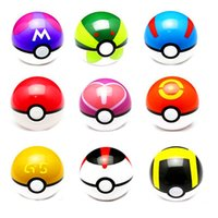 Wholesale Pocket Monster Ball Figures ABS Anime Action Figures PokeBall Toys Master Toys Pokeball Juguetes cm