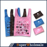 Wholesale Portable Shopping Bag Folding Environmental Shopping Bag CM Oxford Fabric