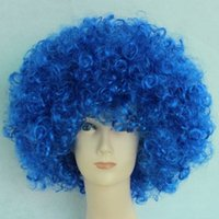 Wholesale hair accessories sell Rainbow brazilian fashion new colored party Child Adult Costume Football Fan Wig Hair Halloween Football Fan Fun wigs