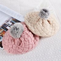 Wholesale Newest Fashion Winter Warm Cute Baby Kids Girls Toddler Knitted Crochet Beanie Hat Cap Colors