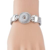 Wholesale NOOSA Metal Snap Button Charm Bracelet Interchangeable Jewelry Button Noosa circular pendant T diy alloy bracelet christmas gift D462M