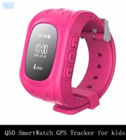Wholesale DHL Q50 Smart Watch Phone Children Kid Smart GPS Tracker Anti Lost Wristwatch Q50 dial call Smartwatch for iphone iOS samsung Android phone