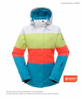 Wholesale Gsou Snow Winter Women Snowboard Ski Suit Waterproof Jacket Windproof Ski Skiing Clothes Colorful Snow Jacket Windstopper