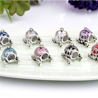 bead pad - Princess Pumpkin Carriage Charm Bead Silver Fashion Women Jewelry Stunning Design European Style For Pandora Bracelet PAD