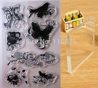 acrylic stamp lot - delicate D butterfly flower pattern clear stamps w Acrylic Pad rubber transparent Seal scrapbooking embellishments sheets