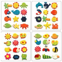 Wholesale Early Learning Toys Magnetic Fridge Magnets Refrigerator Wooden
