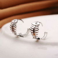 Wholesale 925 sterling silver items jewelry fish stud earrings wedding vintage charms hot new arrival
