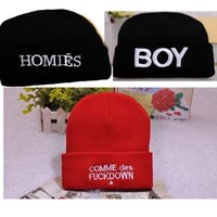 homies - Knitted Beanies COMME DES FUCKDOWN hip hop hats skiing sport warm HOMIES beanies for men lady embroidery fall caps brand