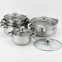 Wholesale 2015 hot sale cookware stainless steel frypan Casserole Sets Stock Pot Sets Cookware sets