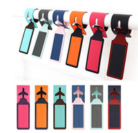 Wholesale 120pcs Men s and Womens Traveling Solid Suede and PU Leather Necessaire Travel Accessories Travel Luggage Tag