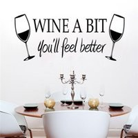 better walls - Wine a Bit Feel Better Quote Removable Wall Sticker Home Decor Vinyl Art Decal