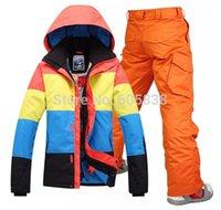 Wholesale mixed color men ski suit windproof waterproof ski wear snowboardind clothes
