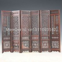 Wholesale China Collection Hand carved Chinese Boxwood Sculpture Folding Screen