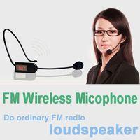 Wholesale Universal FM Signal Wireless Microphone MIC Head Headset Megaphone Radio Mic For Loudspeaker Teaching Meeting Tour Guide Microfones