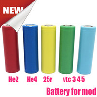 Wholesale 2015 Best Ecig Batteries For Mechanical Mod Vtc r He2 Batteries in Plastic Box Fedex