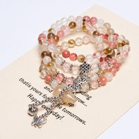 Cheap Korean Fashion Jewelry Lucky transporter of natural citrine flower beaded bracelet