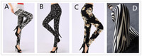 Wholesale Women Leggings Pantalones Black Milk Print Leggings Summer Style Soft To Skin Material Fitness Women Nine Leggins
