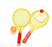 Regalos promocionales por mayor-padre-hijo Juguetes Tenis Juguetes 2 raquetas y una pelota de 27.5 * 12CM 5Set