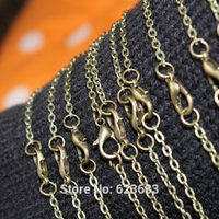 Wholesale Bronze Antique silver ewelry Link Rolo Chains Necklace With Lobster Clasps Factory Price