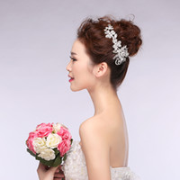 Wholesale 2015 Wedding Headdress Bridal Tiaras white Crystals Hair Accessories Sparkling Rhinestones Bridal Headpiece Headwear tiaras crowns TP