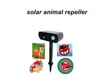 Cheap Wholesale-2015 Hot Selling solar powered ultrasonic animal repeller repellent birds dogs cats deer rat mice monkey mole Free Shiping