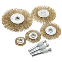 best wheel brush - Best Sales High quality Rotary Wire Wheel Brush Set With Attachments For Drills Sanding Descaling order lt no track