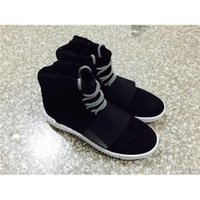 Wholesale 2015 DISCOUNT Brand Shoes Made By Kanye West Sneakers Original Package Black Gray Mens Release sanket shoes