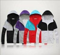 Wholesale 20pcs High Collar Men s sweatshirts long sleeves Men s Dust Hoodies Clothes size M L XL XXL DHL shipping