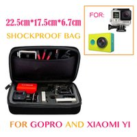 Wholesale Black xiaoyi go pro Anti shock Portable Bag for xiaomi yi Gopro hero Cameras Storage Case SJ4000 sj5000 Compatible