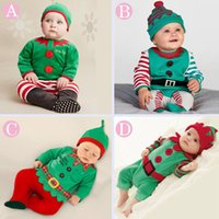 baby boy holiday outfits - DHL Baby Christmas Clothing Sets with Hat Infant Toddler pc Outfits Girl Boys Santa Romper Jumper Custom Christmas Baby Xmas set