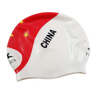 best swimming caps - YINGFA best silicon national flag printing swim cap Australia Canada China England France Germany US