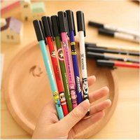 animal print pens - cartoon animal printed gel ink pen for students kawaii stationery supplier diamond head design unisex gel pen ARC467