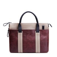Wholesale Computer Bag Retro first layer Leather briefcase Business Bags Messenger Bag Cross section Leather handbags M package