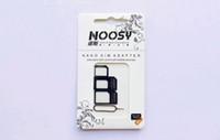 Wholesale NOOSY Nano Sim Micro Sim Standard Sim Card Convertion Converter Nano Sim Adapter Micro sim Card For Iphone Plus All Mobile Devices US9
