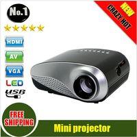 Wholesale Newest lumens D Beamer LED pico Portable Video Pico Micro Small Mini Projector HDMI USB AV VGA TV Tuner Tripod