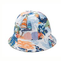 beach watercolor - Canvas Floral Bucket Hat Hip Hop Chapeu Fedora Watercolor Outdoor Beach Hiking Fishing Cap Bowler Fedora Hat For Woman COLORS