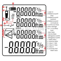 area feet - Digital Laser Meter Measure Area Volume Pythagoras M ft Range Finder mm Accuracy Feet Inches Units Tester Tool