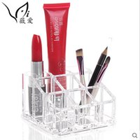 Wholesale cosmetic box for wedding decoration Makeup Lipstick Cosmetic Display Rack Holder Stand Organizer Case Clear Acrylic