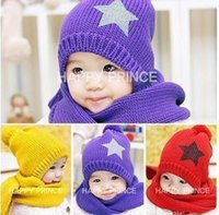 Cheap Unisex baby hat and scarf Best Spring / Autumn Crochet Hats childer hat and scarf