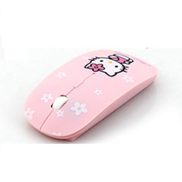 Wholesale Cute KT Wireless Mouse GHz Computer Mice DPI Pro Game Mouse Pink
