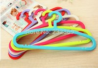 Wholesale Dazzle colour fashion creative magic plastic hangers Thickening antiskid dry wet amphibious